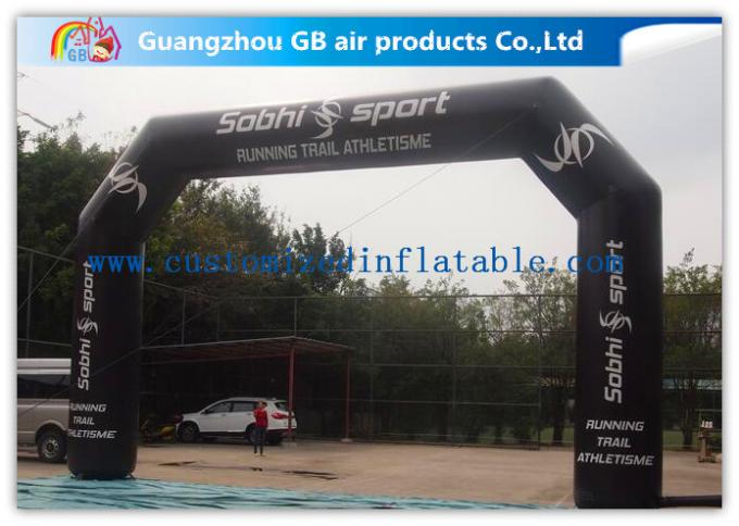 Airtight Inflatable Start Finish Arch With Screen Printing / Heat Transfer Printing / Hand Printing