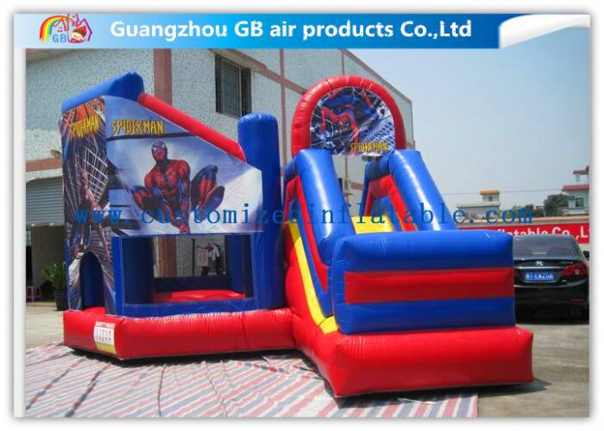 Commercial Spiderman Inflatable Bouncy Castle Kids Inflatable Bouncer With Slide