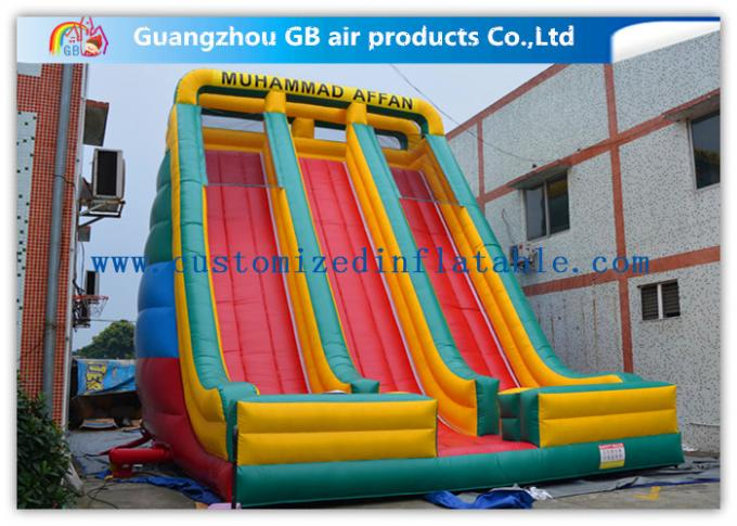 Childrens Industrial Inflatable Water Slides / Inflatable Double Water Slide Fast Delivery