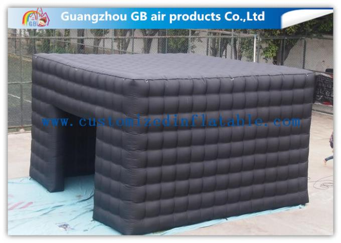 5m Black Outdoor Exhibition Booth the Big Cube Inflatable Venue for Advertisement