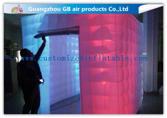 Cool Portable Cube Led Photo Booth Inflatable Decorative Lighting UV Resistant