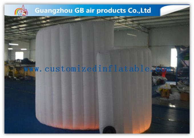 OEM Available Led Inflatable Photo Booth , Foldable Inflatable Spiral Photo Booth