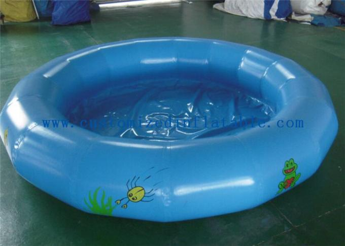 Round Kids Inflatable Swimming Pool For Water Game Acceptable Logo Printing