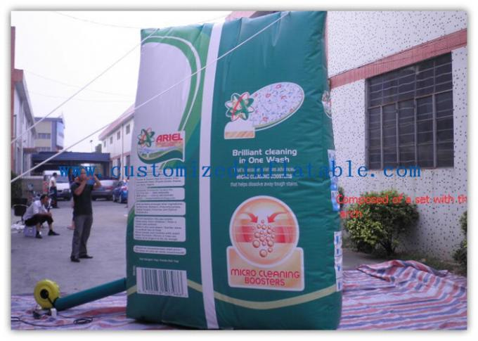 Promotion Arch Square Custom Inflatable Arch With Printing , Strong Pvc Bag Packing