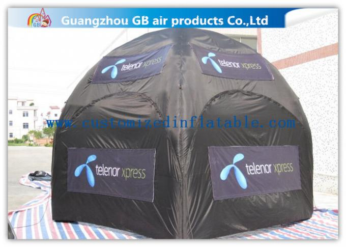 Advertising Inflatable Air Tent , Black Blow Up Spider Dome Tent