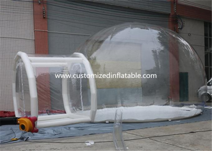 0.7mm Transparent Pvc Inflatable Camping Bubble Tent With Floor CE UL EN14960