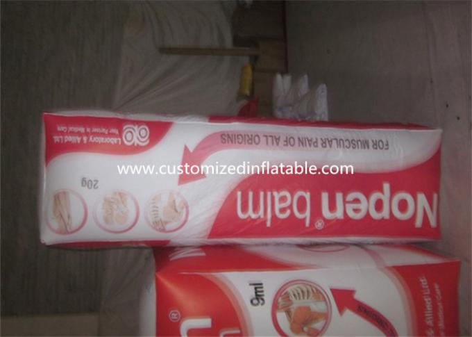 Waterproof Giant Inflatable Drink Carton , Inflatable Milk Box