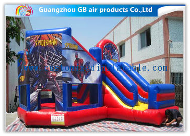 China Commercial Spiderman Inflatable Bouncy Castle Kids Inflatable Bouncer With Slide supplier