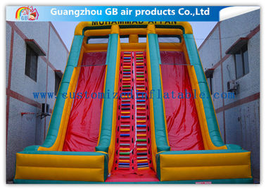 China Childrens Industrial Inflatable Water Slides / Inflatable Double Water Slide Fast Delivery supplier