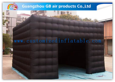 China 5m Black Outdoor Exhibition Booth the Big Cube Inflatable Venue for Advertisement supplier