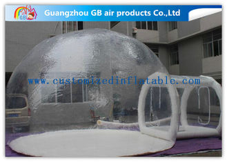 China Transparent PVC Inflatable Lawn Tent Bubble Clear Dome Tent for Camping supplier