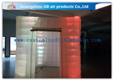 China Cool Portable Cube Led Photo Booth Inflatable Decorative Lighting UV Resistant supplier