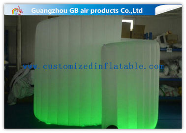 China OEM Available Led Inflatable Photo Booth , Foldable Inflatable Spiral Photo Booth supplier
