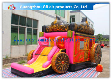 China Giant Outdoor Car Inflatable Princess Bouncy Castle With Slide For Children Toys supplier