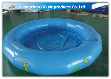 China Round Kids Inflatable Swimming Pool For Water Game Acceptable Logo Printing supplier
