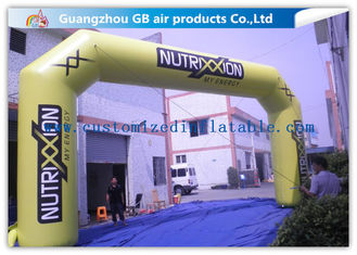 China Outdoor Advertising Custom Inflatable Arch 0.45mm Pvc Tarpaulin , 8mL * 5mH supplier