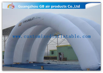 White Inflatable Arch Tent / Inflatable Tunnel Tent With Oxford Cloth Material supplier
