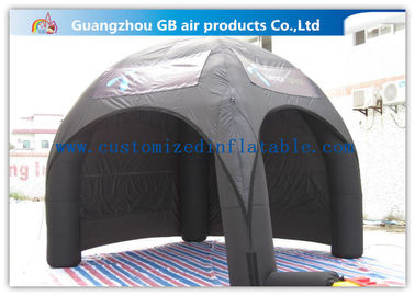 China Advertising Inflatable Air Tent , Black Blow Up Spider Dome Tent supplier