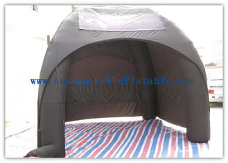 Advertising Inflatable Air Tent , Black Blow Up Spider Dome Tent supplier