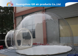 China 0.7mm Transparent Pvc Inflatable Camping Bubble Tent With Floor CE UL EN14960 supplier