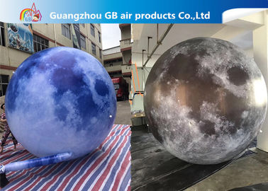 China 210T Polyester Inflatable Lighting Decoration / Inflatable Moon Globe supplier