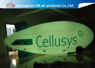 China Commercial Inflatable Helium Balloons , Giant Helium Blimp With LED Light supplier