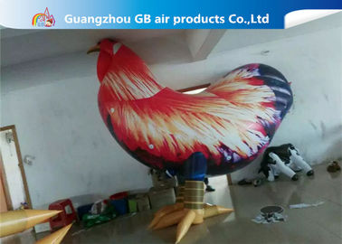 China Outside Standing Inflatable Cartoon Characters PVC Rooster Animal Cock Model supplier