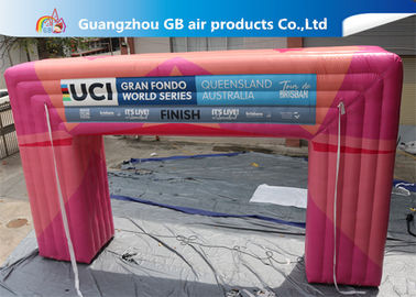 China Customized Pink Square Inflatable Door Archway Make 0.6mm PVC Tarpaulin Airtight supplier