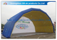 China Blue Arch Tent Hand Printing Inflatable Air Tent Dome Inflatable Stage for Event factory
