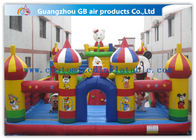 China Colorful Inflatable Amusement Park , Fun City Commercial Inflatable Bouncers Castle factory