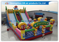 China Waterproof Pororo Inflatable Double Slip And Slide Inflatable Fairyland Park For Playing factory