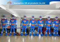 China Advertising Oxford Cloth Blue Inflatable Superman With Blower 3m High factory