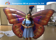 China Custom Back Inflatable Lighting Decoration Butterfly Air BOW With Internal Blowewr factory