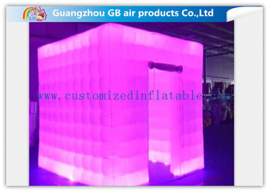 China Multicolor Led Inflatable Photo Booth Enclosure / Inflatable Photo Studio for Club factory