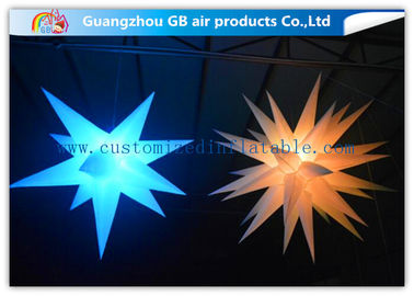 Indoor Colorful Star Inflatable Lighting Decoration Advertising For Event