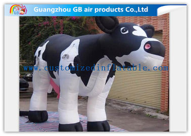 Advertising Large Inflatable Cow / Giant Inflatable Cow Model For Factory Decoration