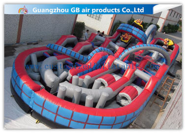 Giant Inflatable Amusement Park With Large Roller Coaster for Activities Entertainment