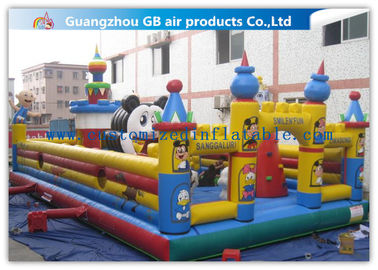 Funny Giant Inflatable Amusement Park Happy Family Bouncy House