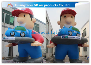 Giant Inflatable Cartoon Characters Air Big Boy 7m for Advertising Decoration