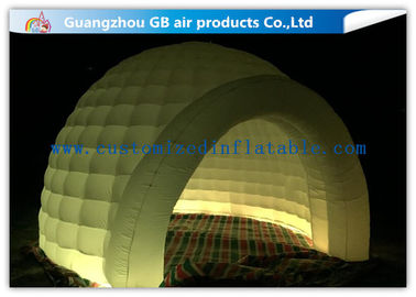 China Multi Color Lighting Round Inflatable Air Tent Dome With Oxfor Cloth Material factory