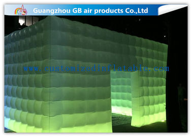 China Pvc Coated Nylon Inflatable Air Tent Square Tent Booth With Led Lighting factory