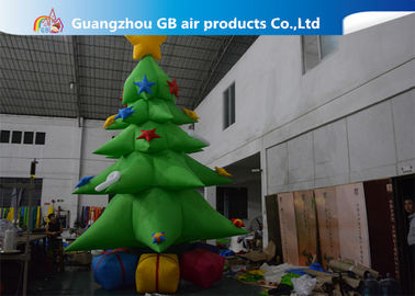 Customized Giant Inflatable Christmas Tree Yard Decoration , Inflatable Tree With Ornaments
